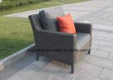 Vimine piano della disposizione dei posti a sedere di Furniturte del patio del sofà 0047A 10mm della curva stabilita profonda della luna mezza