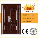最もよい価格の機密保護の外部の鋼鉄鉄のドア(SC-S077)