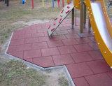 Le mattonelle di gomma di ginnastica, riciclano le mattonelle di gomma, mattonelle di pavimento di gomma