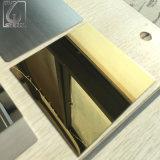 Gold farbiges Platten-dekoratives Blatt des Edelstahl-304