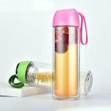 300ML de nieuwe Ontwerp Aangepaste Fabriek van de Fles van het Water van het Glas van Borosilicate van het Embleem