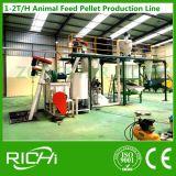 Maquinaria del molino del pienso del uso 1-2t/H de las granjas de la familia pequeña