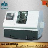 Machine de tour de commande numérique par ordinateur du pouvoir 5.5kw Ck50L de moteur de bâti oblique