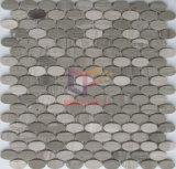 타원형 모양 자연적인 대리석 돌 모자이크 (CFS1083)