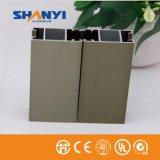 Material de construção Anodizados Champanhe Perfil perfil de alumínio de extrusão de alumínio para a indústria de porta de vidro