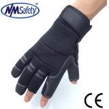 Перчатка работы Nmsafety Fingerless синтетическая кожаный Mechinest