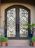 Beste Qualitätssicherheits-Doppelt-Eisen-Stahltür mit Glas