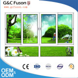 Aluminiumglasfenster mit Vorhang-Innere-Entwürfen für Guangzhou-Tür-Fabrik