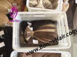 Uitbreiding van het Haar van het haar kan de Bulk, Uitstekende kwaliteit, het Maagdelijke Menselijke Haar Remy van 100%, Speciale Kleur Aangepaste, Gunstige Prijs zijn