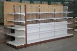 Aménagement en acier d'étalage de gondole de treillis métallique de mur de supermarché