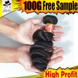 9A высококачественных привлекательной100% бразильского ослабленных волос кривой