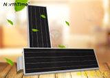 120 lámparas de calle solares del control inteligente ajustable del teléfono del ángulo de haz