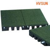 Migliori mattonelle molli esterne impermeabili riprese della gomma del pacciame della stuoia di gomma del pacciame prodotte fabbrica