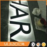 Загоранный акриловый освещенный контржурным светом 3D знак логоса