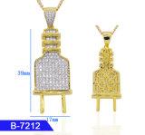 Les hommes rappeur Hip Hop Mode bijoux plaqué or 14K 925 Sterling Silver ou en laiton Bouchon de zircone cubique Charms Pendentifs pour le commerce de gros