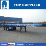Aanhangwagen van de Container van de titaan 60t 40FT Flatbed Semi voor Vervoer