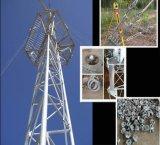 Torre de acero de la telecomunicación de la torre del alambre de individuo de Trianglar