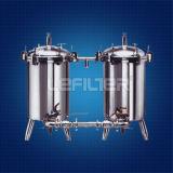 cubierta del cartucho de filtro del acero inoxidable 304 316L para la filtración del agua