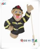 Burattino del pompiere con Rod di legno staccabile per i gesti Animated