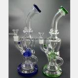 Blaues Grün-Schwarz-Glasaufbereitenwasser-Rohr