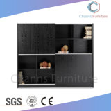 Fashion Grey Color Wooden Bookcase Office File Cabinet (CAS-FC1804)