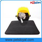 Produit de chat de couvre-tapis de litière du chat d'approvisionnement d'animal familier de caoutchouc mousse d'EVA