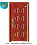 Style europeo Stainless Steel Door de Red Brown Colour (GS-8012)