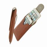 Caja universal del teléfono de la pistolera del clip de la correa de la PU de la manera del clip de la bolsa de la cintura del bolso de cuero portable del deporte para el iPhone 6 más