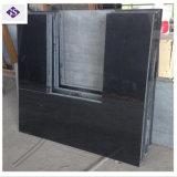 Новый стиль полированного Черная жемчужина гранита камин с мартеновских вставить