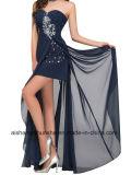 Noite longa Strapless Blusa Chiffon vestido vestido de ocasiões especiais