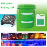 Puate d'étanchéité condensée LSR de silicones de mise en pot de deux composants