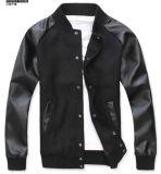 Tecidos de vestuário para homens PU/Melton Jacket (RTJ0518)