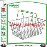 Золотистая корзина для товаров стального провода для Hypermarket