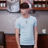 High Quality Men Plain Blank Bamboo T Shirts Atacado