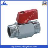 Латунный миниый шариковый клапан с алюминиевой ручкой (YD-1038)