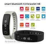 Оптовая торговля Bluetooth Smart силиконовый браслет с будильником Pedometer H8