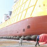 Bolsa a ar de lançamento do fuzileiro naval do pontão do barco do navio