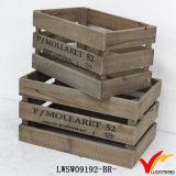 Barato rústico afligido madeira Apple caixas atacado