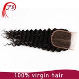 モンゴルの人間のレース4× 4つの毛の深い波の人間の毛髪