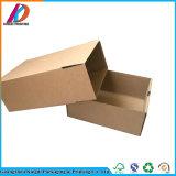 Personnaliser les chaussures de papier ondulé Boîte de rangement avec fenêtre claire