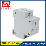 AC30 Modulaire Contactdozen Twee de Stroomonderbreker MCB RCCB van de Goedkeuring MCCB van Ce RoHS van Stoppen 10-16AMP van het Spoor van DIN