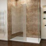 Sally 8mm Frameless marcher dans la porte de douche en verre avec le côté fixe le panneau de Retour de boîtier pour salle de bains Ce SGCC Wetroom CCC