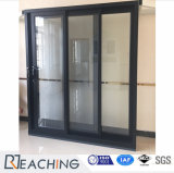 Schuifdeur van de Deur van het Aluminium van de Markt van Australië de Matte Zwarte met Dorisch D-Slot