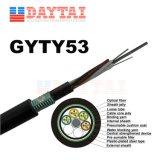 Câble fibre optique de plein air antenne Gyty53&conduit et l'enterrement direct