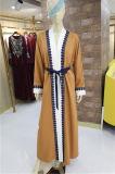 Commerce de gros robe longue musulmane Cardigan femme automne manteau islamique de la pleine longueur prix bon marché