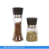 180ml en verre sans plomb Spice Moulin à poivre part Shaker bocaux avec couvercle En acier inoxydable