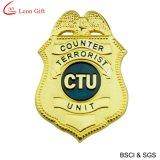 Insigne de police d'or en émail dur pour souvenir (LM1756)