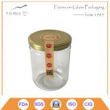 8 oz jarros de conservas alimentares de vidro com tampas metálicas