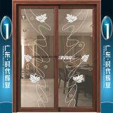 Champagne la pendaison de porte intérieure en aluminium avec verres double couche