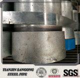 tubo de la galvanización de la INMERSIÓN caliente de 114m m Od con Threaed y el casquillo